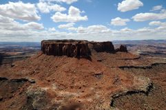 Canyonlands Merrimac. Vast sandstone formation takes shape in Utah desert stock photos