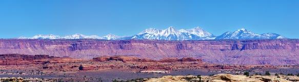 Canyonlands Mountain Panorama Royalty Free Stock Photos