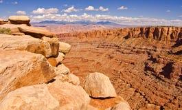 Canyonlands Nationaal Park buiten Moab, UT Stock Foto
