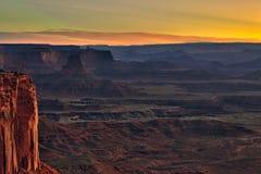 Canyonlands Nationaal Park in Utah als Zonsopgang Royalty-vrije Stock Afbeeldingen