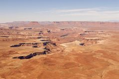 Canyonlands National Park. Panoramic view of the green river valley Royalty Free Stock Photography