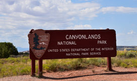 Canyonlands National Park entrance Stock Photo