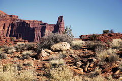 Canyonlands National Park Fisher Tower Royalty Free Stock Photos