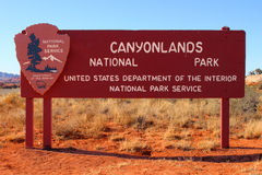 Canyonlands National Park Sign Royalty Free Stock Photography