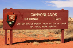 Canyonlands National Park sign, Utah, USA Stock Image