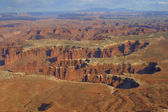 Canyonlands National Park. With the snow-capped La Sal Mountains in the distance, Utah Stock Photography