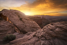 Canyonlands National Park at Sunrise Stock Photography