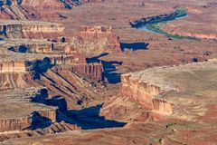 Canyonlands National Park Utah Landscape. The scenic landscape of canyon lands national park Utah Stock Photography