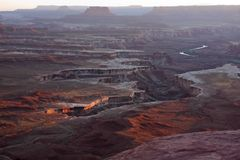 Canyonlands National Park in Utah at Sunset Royalty Free Stock Image