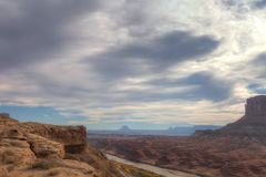 Canyonlands nationell Parkera-vit Rim Road Arkivfoton
