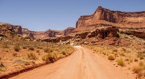 Canyonlands NP - strada non asfaltata Fotografia Stock Libera da Diritti