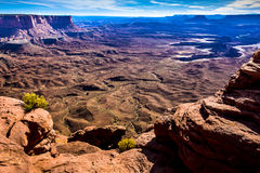 Canyonlands Orange Cliffs Overlook Royalty Free Stock Photography