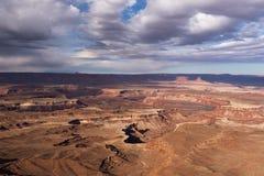 Canyonlands park narodowy lokalizować w południowym środkowym Utah z widokiem Zielonej rzeki obrazy royalty free