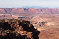 Canyonlands park narodowy, wyspa w niebie Przegapia obraz stock