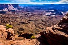 Canyonlands Pomarańczowe falezy Przegapiają Fotografia Royalty Free