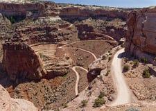Canyonlands Shafer ślad Przegapia Obraz Royalty Free