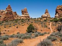 canyonlands som undersöker Arkivbild
