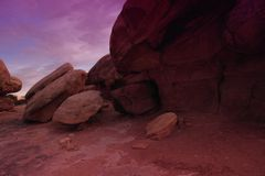 Canyonlands. The unusual landscape at canyonlands Royalty Free Stock Images