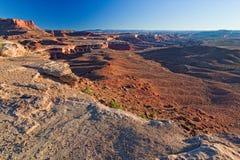 canyonlands国家公园外缘路ut白色 免版税库存图片