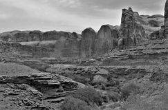 Canyonlands of Utah. Rocky sandstone cliffs near Canyonlands National Park in Utah offers hiking, biking and jeeping trails Stock Photos