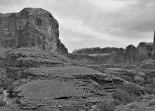 Canyonlands of Utah. Rocky sandstone cliffs near Canyonlands National Park in Utah offers hiking, biking and jeeping trails Stock Photo