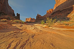 Canyonlands Utah South Park Ave. Canyonlands orange sandstone desert formation n Utah stock photos