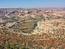 Canyonlands van hierboven Stock Foto's