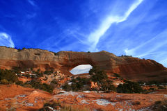 Canyonlands Wilson Bogen lizenzfreies stockbild