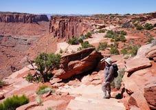 canyonlands wycieczkowicza dama target2039_0_ Zdjęcie Royalty Free