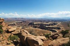 canyonlands zielenieją rzekę Zdjęcia Stock
