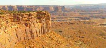 canyonlands峭壁mesa 免版税库存图片
