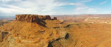 canyonlands峭壁mesa 免版税图库摄影