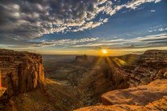 Canyonlandszonsondergang Royalty-vrije Stock Foto's