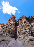 The Canyons at Bandelier National Monument Park in Los Alamos, N. Ew Mexico Royalty Free Stock Images