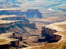 The canyons of Canyonland national Park Royalty Free Stock Photos