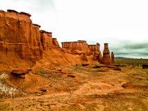 Canyons en parc national de Talampaya photo stock