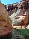 Canyons in Lake Powell of Lake Powell. Royalty Free Stock Photography