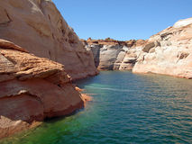 Canyons in Lake Powell of Lake Powell. Royalty Free Stock Image