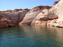 Canyons in Lake Powell of Lake Powell. Stock Photos