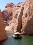 Canyons in Lake Powell of Lake Powell. Royalty Free Stock Photos