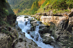 The Canyons landscape of china Royalty Free Stock Image