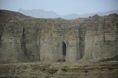 Canyons at the National Park Makran Coaster. Hingol National Park is along the Makran coast in southwestern Baluchistan Province, southwestern Pakistan. It lies Stock Photos