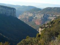 Canyons in Tavertet, Barcelona Royalty Free Stock Photo
