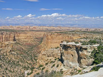 Canyons in the Utah desert stock images