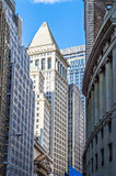 Canyons of Wall St. Royalty Free Stock Images