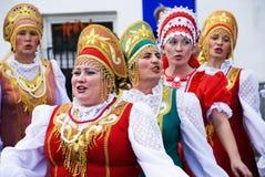Canzone di piega russa. Coro delle gente di Pokrovsky. Immagini Stock Libere da Diritti