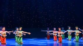 Canzone folk della danza popolare nordica di Shaanxi-cinese stock footage