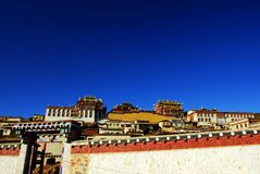 Canzone Zan Lin in tempiale tibetano Shangarila-famoso Fotografie Stock