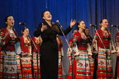 Canzoni russe etniche Immagini Stock Libere da Diritti