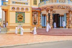 Cao戴教廷寺庙,西宁省,越南 库存照片